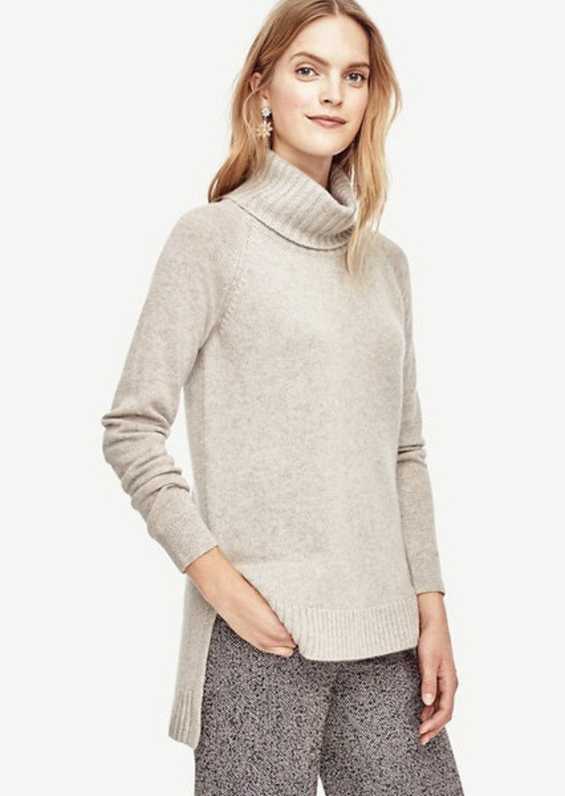 Ann Taylor Cashmere Turtleneck Tunic Sweater | Sweaters - Shop It ...