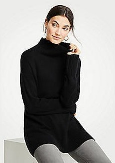 Ann Taylor Cashmere Turtleneck Tunic Sweater