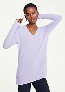 Ann Taylor Cashmere V-Neck Tunic Sweater