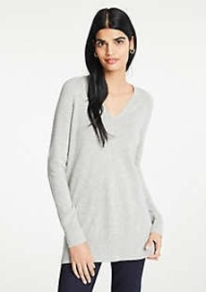 Ann Taylor Cashmere V-Neck Tunic Sweater