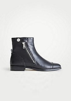 Ann Taylor Cassie Leather Moto Booties