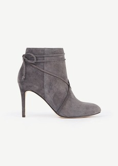 Ann Taylor Cecilia Suede Lace Up Booties