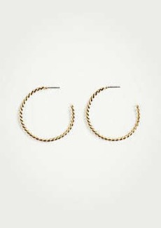 Ann Taylor Chain Hoop Earrings