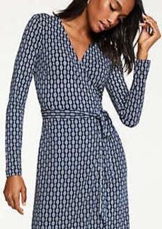 Ann Taylor Chain Link Matte Jersey Wrap Dress
