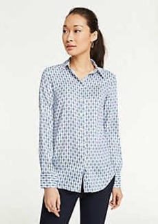 Ann Taylor Chain Link Perfect Shirt