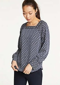 Ann Taylor Chain Link Square Neck Blouse