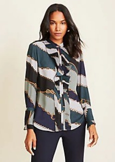Ann Taylor Chain Print Icon Blouse
