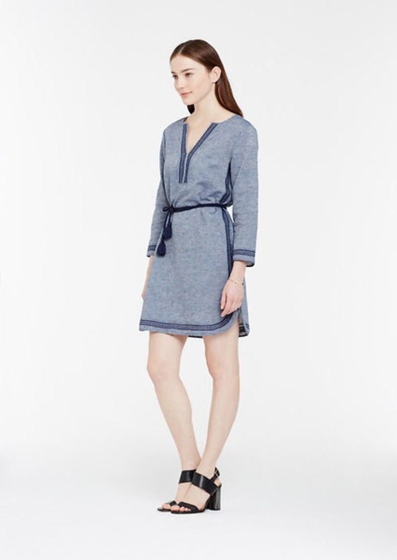 Ann taylor chambray embroidered dress dresses shop it for Robes de noce ann taylor
