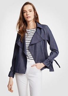 Ann Taylor Chambray Trench Coat