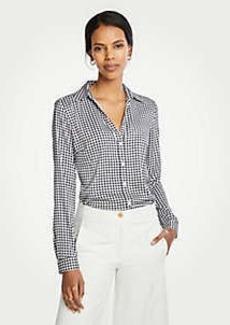 Ann Taylor Checked Essential Shirt