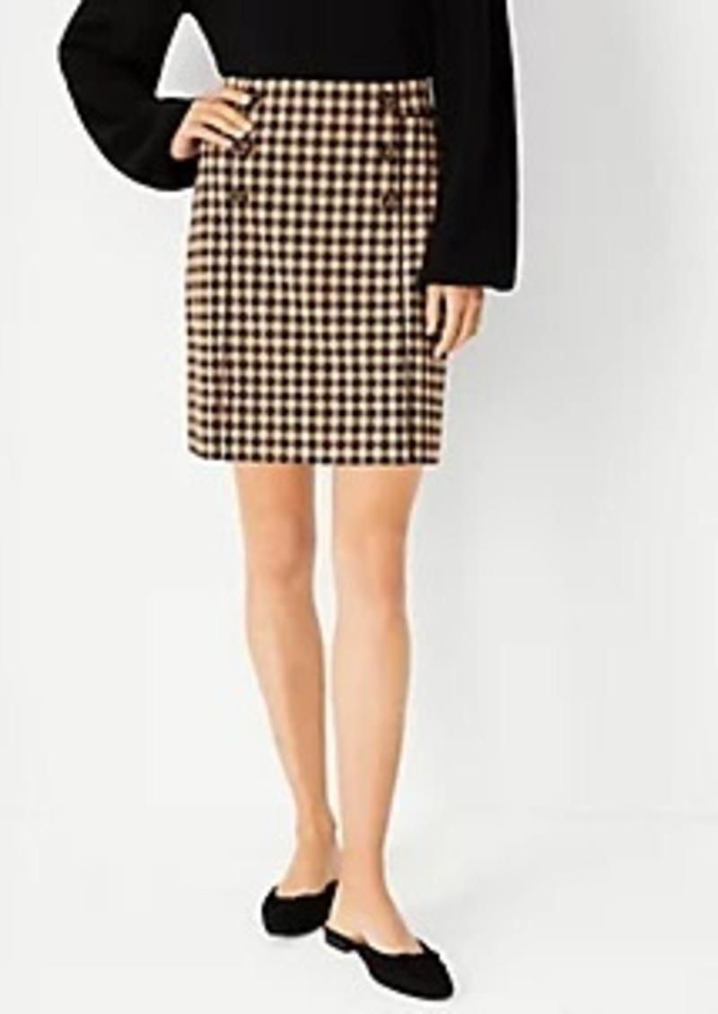 Ann Taylor Checked Sailor Button Mini Skirt