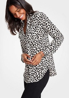 Ann Taylor Cheetah Dot Camp Shirt