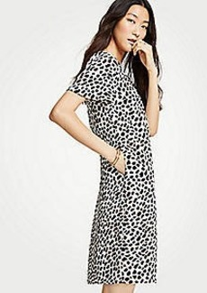 Ann Taylor Cheetah Dot Pocket T-Shirt Dress