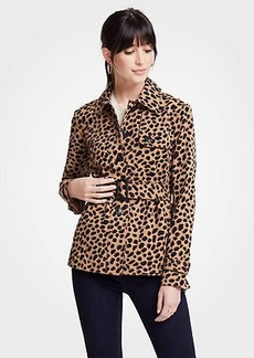 Ann Taylor Cheetah Dot Short Trench
