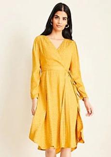 Ann Taylor Cheetah Print Jacquard Wrap Dress