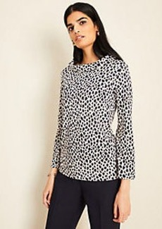 Ann Taylor Cheetah Print Mock Neck Top