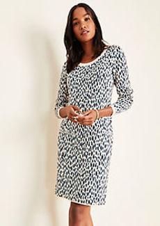 Ann Taylor Cheetah Print Sweater Dress