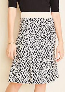 Ann Taylor Cheetah Print Sweater Skirt