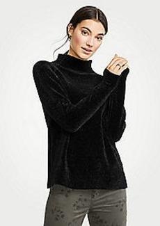 Ann Taylor Chenille Mock Neck Sweater