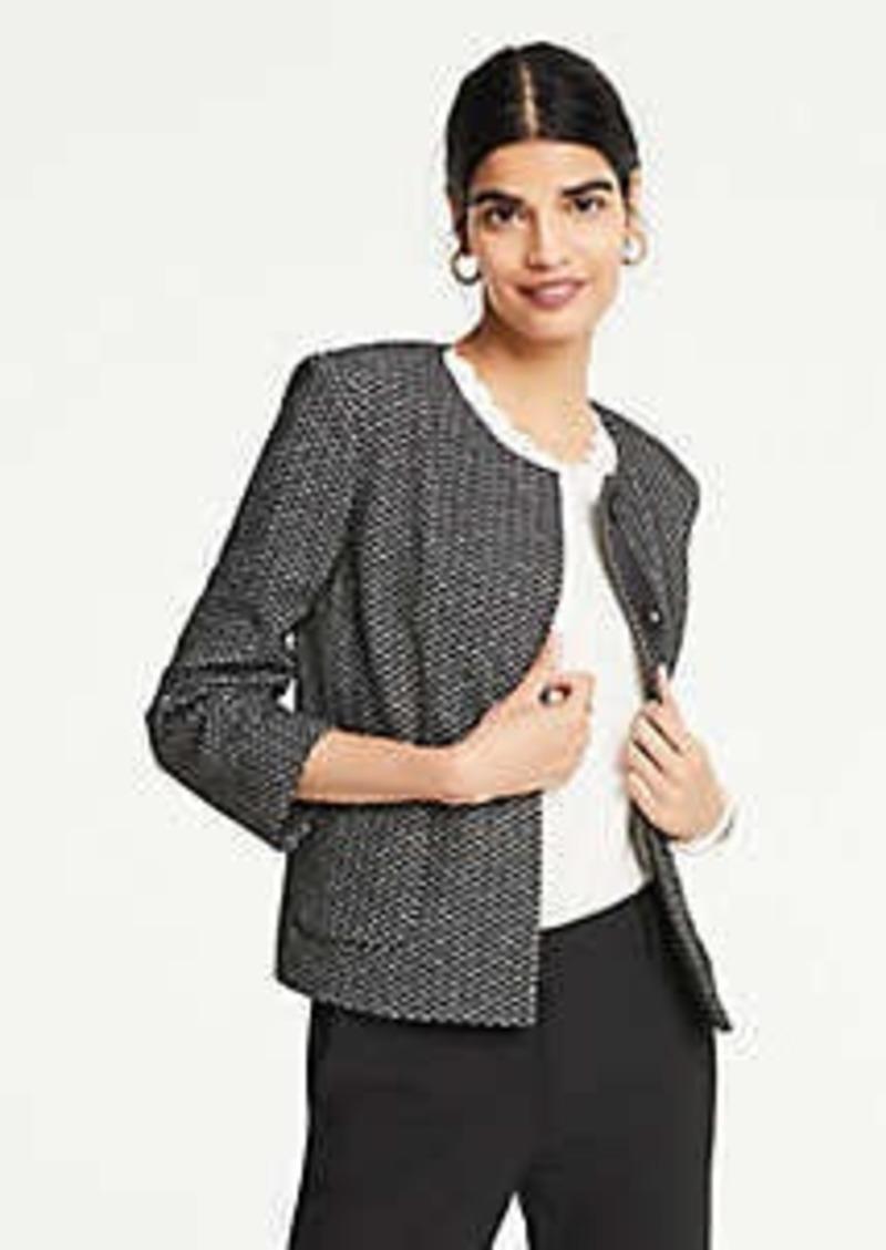 Ann Taylor Chevron Knit Jacket