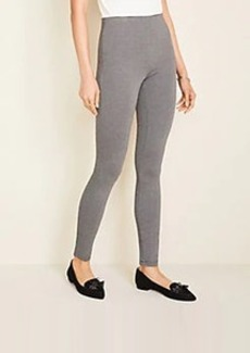 Ann Taylor Chevron Seamed Side Zip Leggings