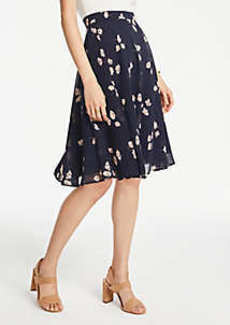 Ann Taylor Chiffon Floral Full Skirt