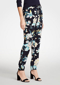 Ann Taylor Chinoiserie Tropics Jogger Pants