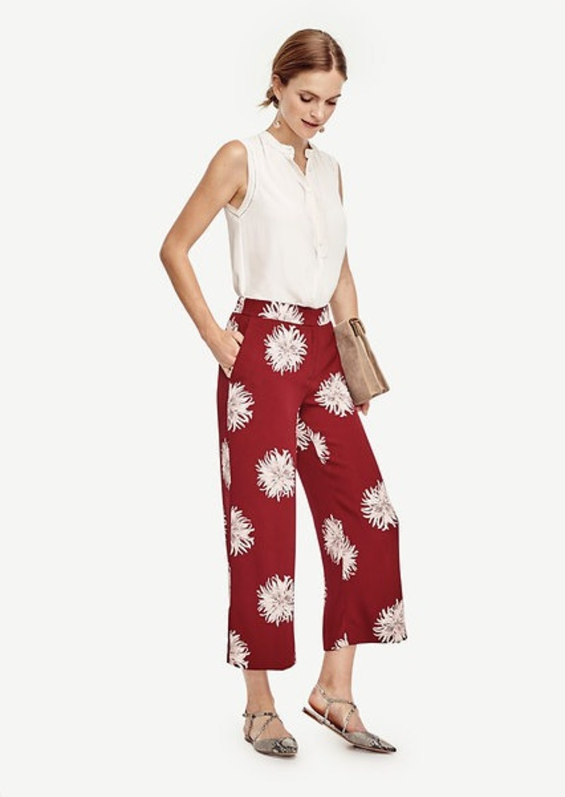 Ann Taylor Chrysanthemum Fluid Ankle Pants