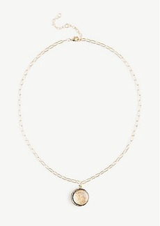 Ann Taylor Circle Charm Necklace