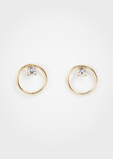 Ann Taylor Circle Crystal Stud Earrings