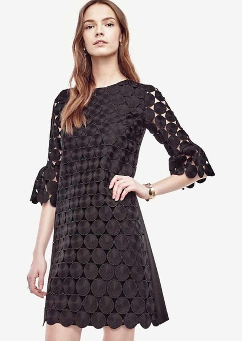 Ann Taylor Circle Lace Bell Sleeve Dress