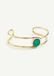 Ann Taylor Circle Stone Open Cuff Bracelet