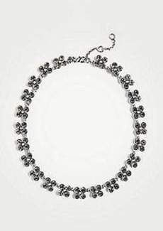 Ann Taylor Clover Crystal Statement Necklace