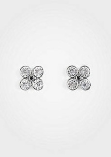 Ann Taylor Clover Crystal Stud Earrings