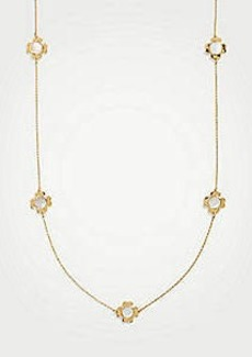 Ann Taylor Clover Flower Station Necklace