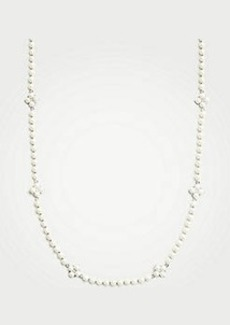 Ann Taylor Clover Pearlized Statement Necklace