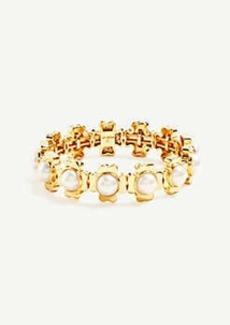 Ann Taylor Clover Pearlized Stretch Bracelet