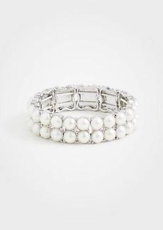 Ann Taylor Crystal Clover Beaded Stretch Bracelet