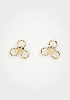 Ann Taylor Clover Stud Earrings