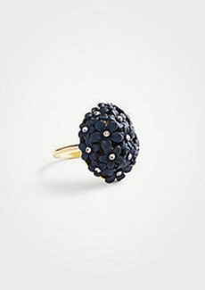 Ann Taylor Coated Metallic Flower Ring
