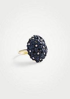 Ann Taylor Coated Metallic Flower Ring
