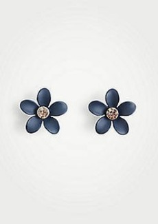 Ann Taylor Coated Metallic Flower Stud Earrings
