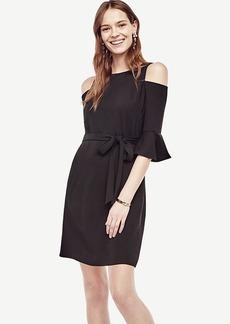 Cold Shoulder Belted Shift Dress