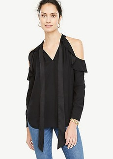Cold Shoulder Bow Neck Top