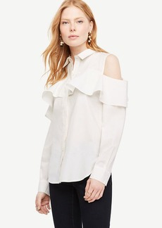 Cold Shoulder Flounce Shirt