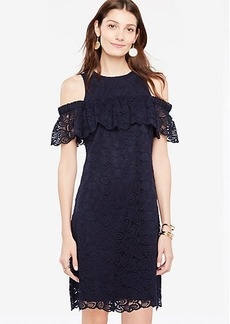 Cold Shoulder Lace Shift Dress