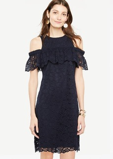 Cold Shoulder Lace Shift Dress