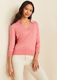 Ann Taylor Collared V-Neck Sweater