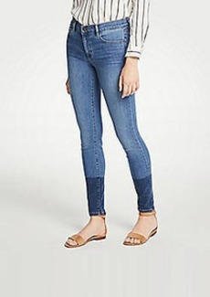 Ann Taylor Colorblock All Day Skinny Jeans