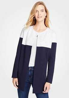 Ann Taylor Colorblock Open Cardigan